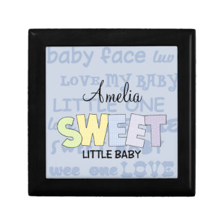 Sweet Little Baby-Personalize Name Keepsake Box