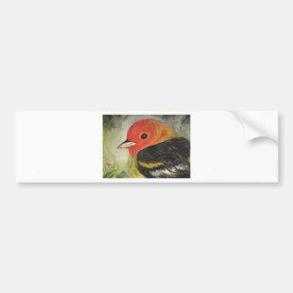 Sweet Little Bird Watercolor Bumper Sticker