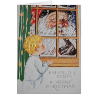 Sweet Little Boy... Christmas Greeting Card