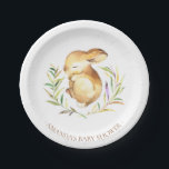 "Sweet Little Bunny Baby Shower 7&quot; Plate<br><div class=""desc"">Cute little bunny for a Neutral,  girls or boys baby shower. Change our background color by clicking on customize and using our color picker.   Matching items available in our shop.</div>"