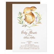 Sweet Little Bunny Baby Shower Invitation
