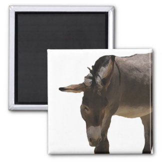 Sweet Little Burro - Donkey & Animal Lovers 2 Inch Square Magnet