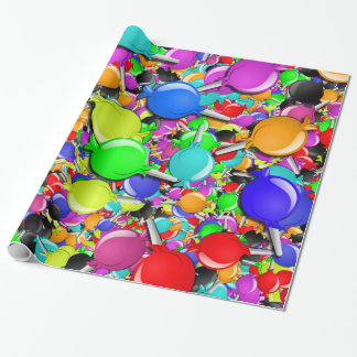 Sweet Little Candy Suckers Wrapping Paper