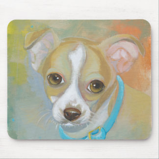 Sweet little Chihuahua puppy dog tries to blend in Mouse Pad