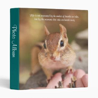 Sweet Little Chipmunk Photo Album 3 Ring Binder