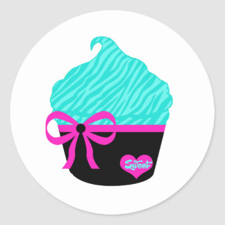 Sweet Little Cupcake Classic Round Sticker