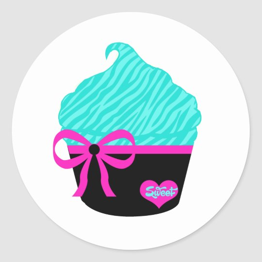 Sweet Little Cupcake Classic Round Sticker