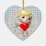 Sweet Little Cupid Christmas Ornaments