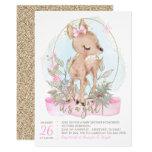 Sweet Little Deer Baby Shower Invitation