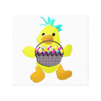 Sweet Little Easter Chick Canvas Print