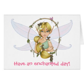 Sweet little fairy stationery note card