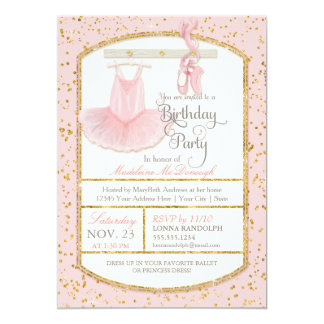Sweet Little Girl Ballerina Ballet Birthday Party Card