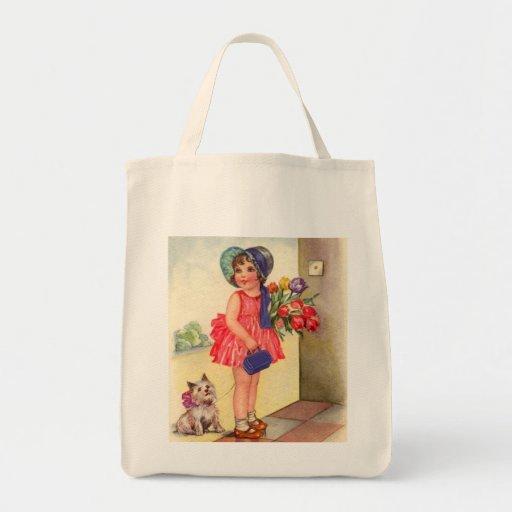 Sweet Little Girl Canvas Bag
