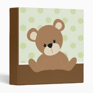 Sweet Little Green Bear Binder