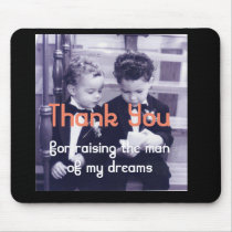 Sweet Little grooms in suit reading letter Mouse Pad