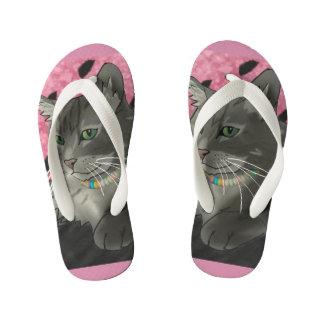 Sweet Little Kitty Flip-Flops Kid's Flip Flops
