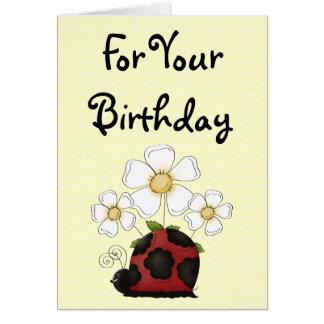Sweet Little Ladybug Birthday Philippians 4:8 Card