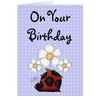 Sweet Little Ladybug Birthday Philippians 4:8 Greeting Card