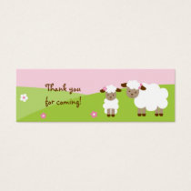 Sweet Little Lamb Baby Girl Goodie Bag Tags