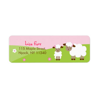 Sweet Little Lamb Baby Shower Address Labels