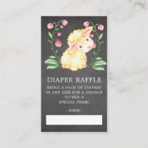 Sweet Little Lamb Baby Shower Diaper Raffle Ticket Enclosure Card