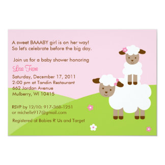 Sweet Little Lamb Baby Shower Invitation