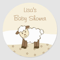 Sweet Little Lamb Envelope Seals Stickers