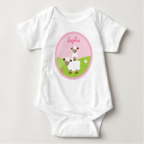 Sweet Little Lamb Girls Baby T-Shirt