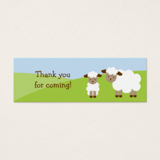 Sweet Little Lamb Goodie Bag Tags Favor Tags Mini Business Card