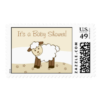 Sweet Little Lamb Personalized Postage Stamps