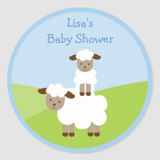 Sweet Little Lamb Stickers Envelope Seals