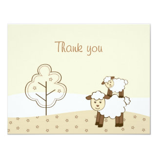 Sweet Little Lamb Thank You Note Cards Custom Invites