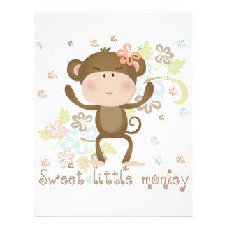 Sweet Little Monkey Flyer Design