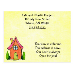 My door is always open gifts on zazzle sweet little new home moving address cards stopboris Choice Image