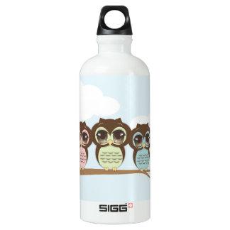 Sweet Little Owls Flock on a Branch SIGG Traveler 0.6L Water Bottle