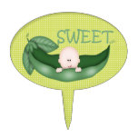 Sweet Little Pea Baby Cake Toppers