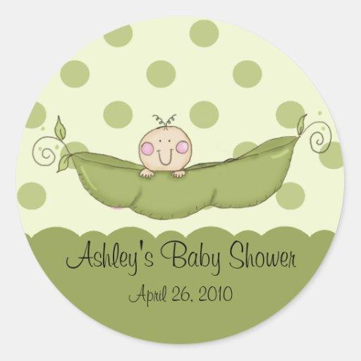 Sweet Little Pea Baby Shower Sticker