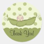 Sweet Little Pea Boy Thank You Sticker