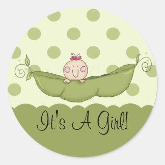 Sweet Little Pea It s A Girl Sticker