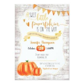 Sweet Little Pumpkin Baby Shower Invitation