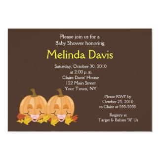 Sweet Little Pumpkins 5x7 Fall Baby Shower Invite