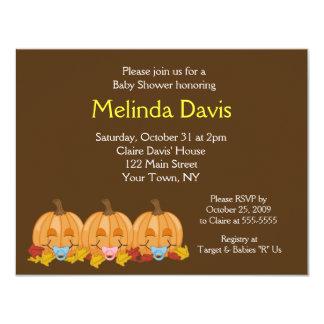 Sweet Little Pumpkins Fall Baby Shower Invitation