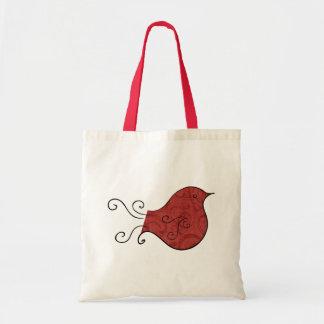 Sweet Little Red Bird Gift Bag