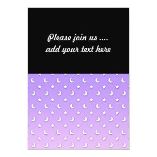 Sweet Little Stars and Moons Pattern Custom Invitations