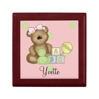 Sweet Little Teddy Bear-Personalize Name Gift Box