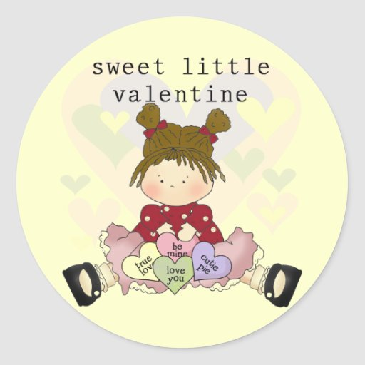 Sweet Little Valentine Tshirts and Gifts Classic Round Sticker