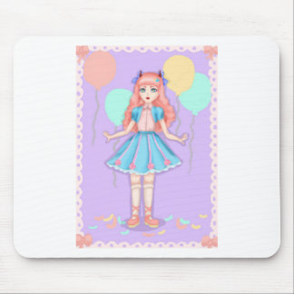 Sweet lolita party mouse pad
