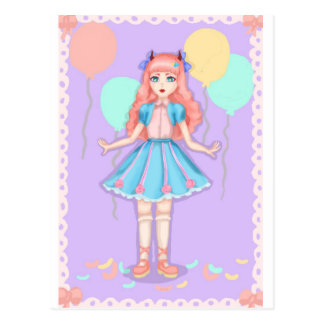 Sweet lolita party postcard