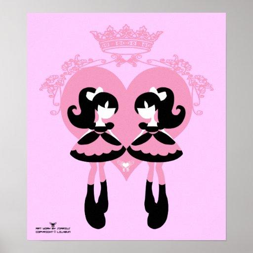 Sweet lolita Twins Poster
