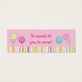 Sweet Lollipop Candy Favor Gift Tags